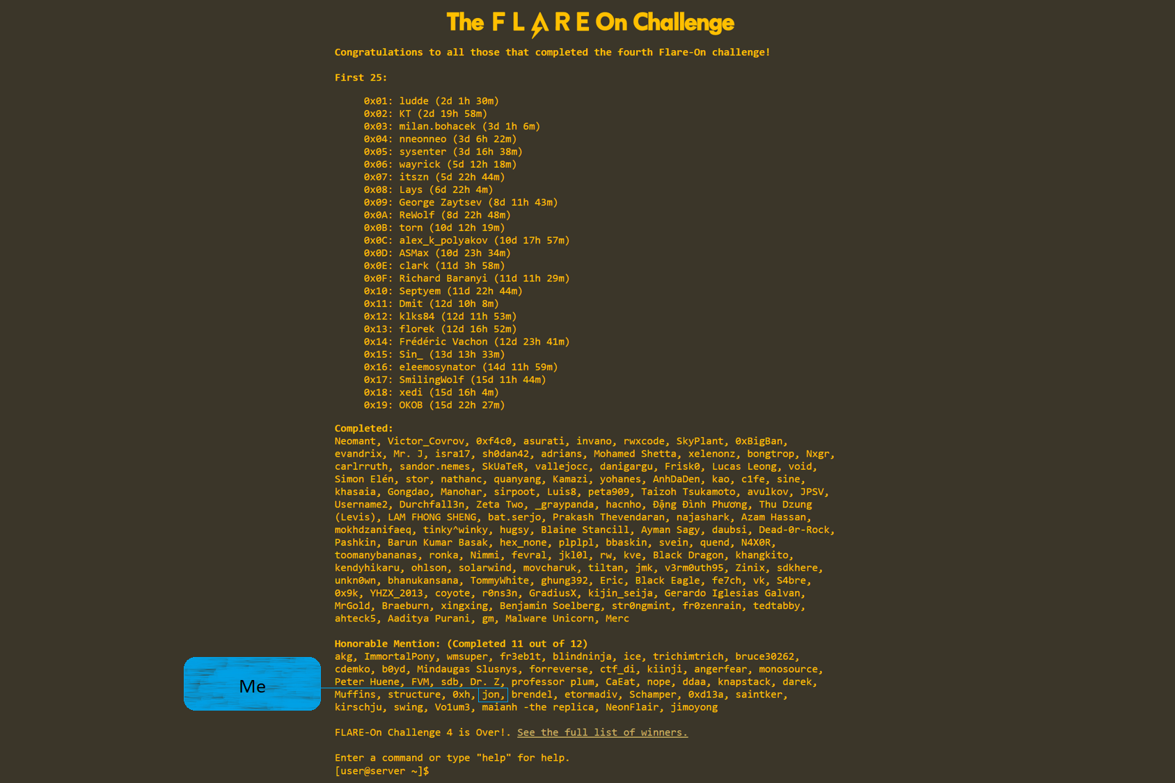 Flare On Challenge Overview – Jonathan Armer – Small blog